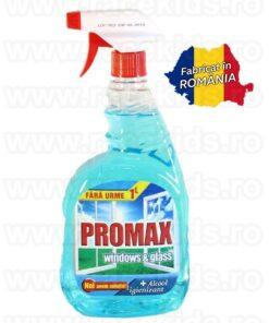 PROMAX Windows & Glass Solutie curatare alcool Marin 1 litru