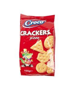 Biscuiti aperitiv Croco Crackers cu pizza 100g