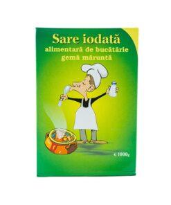 Sare iodata de bucatarie gema marunta 1kg