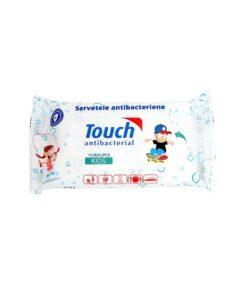 Servetele umede antibacteriene Touch Kids