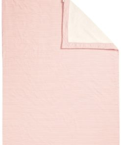 Paturica roz de plus bebe Noceto 75x100cm