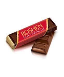 Baton de ciocolata amaruie Roshen cu umplutura 43g