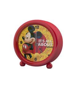 Ceas rosu cu alarma Mickey Mouse