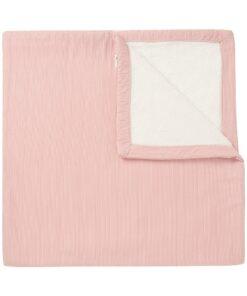 Paturica roz de plus bebe Noto 120×120 cm Noppies