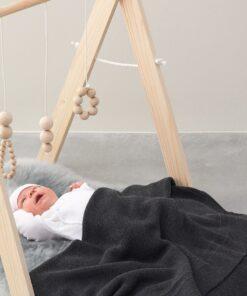 Paturica gri tricotata bebe Norcia 75x100cm Noppies