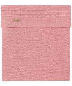 Paturica roz tricotata bebe Nola 120x120cm Noppies
