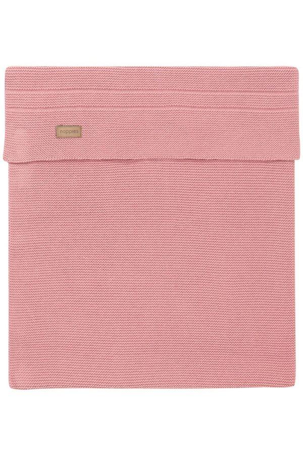 Paturica roz tricotata bebe Norcia 75x100cm Noppies