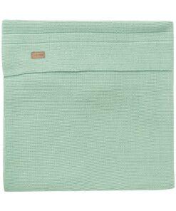 Paturica verde deschis tricotata bebe Nola 120x120cm Noppies