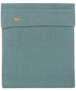 Paturica verde inchis tricotata bebe Nola 120x120cm Noppies