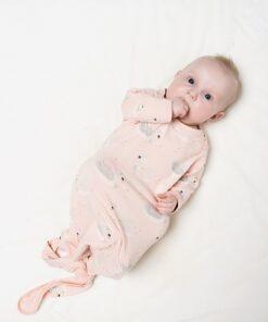 Sac de dormit pentru bebe cu lebede 62 cm Charlie Choe