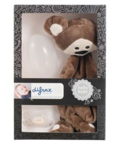 Set cadou bebelusi: maimutica plus+suzeta+cutie protectie