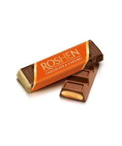 Baton de ciocolata cu lapte Roshen cu umplutura de caramel 40g