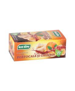 BELiN - Ceai portocale si ghimbir, 20 pliculete