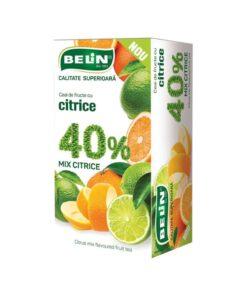 Ceai fructe BELiN - Calitate superioara, mix citrice 40%, 20 pliculete