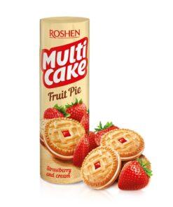 Roshen Multicake biscuiti cu umplutura de capsuni 195g