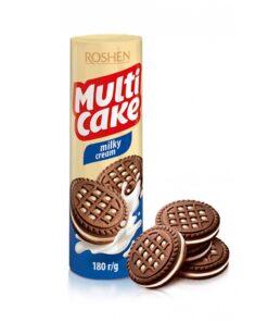 Roshen Multicake biscuiti de cacao cu umplutura de lapte 180g