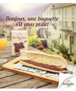 Fulgi rotunzi de ciocolata cu lapte De Ruijter - Olanda 380g