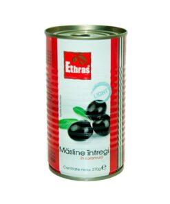 Ethras - Masline negre intregi in saramura 370g