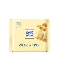 Ritter Sport Ciocolata alba cu fulgi de porumb 100 grame