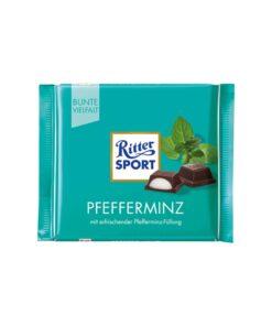 Ritter Sport Ciocolata neagra cu Menta 100 grame