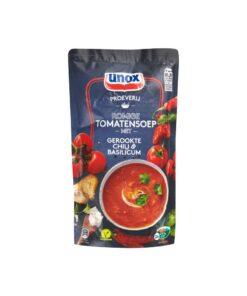 Supa-crema de rosii cu chili afumat si busuioc Unox Olanda 570 ml