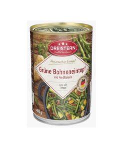 Tocana de fasole verde cu carne de vita Dreistern 400g