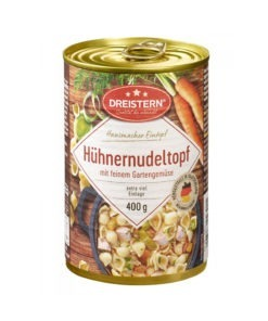 Supa deasa cu paste, legume fine si pui Dreistern 400 ml