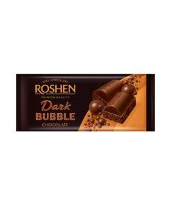 Roshen Dark Bubble Chocolate ciocolata neagra aerata 80 g