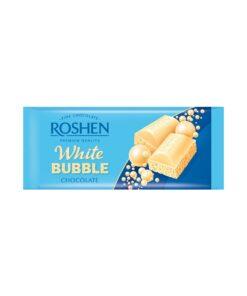 Roshen White Bubble Chocolate ciocolata alba aerata 80 g
