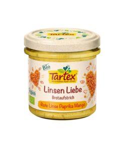 Tartex Bio – Pasta tartinabila cu linte rosie, paprika si mango 140 g