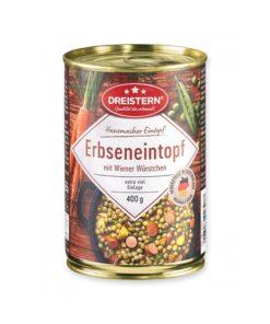 Tocanita de mazare cu carnati Wiener Dreistern 400g