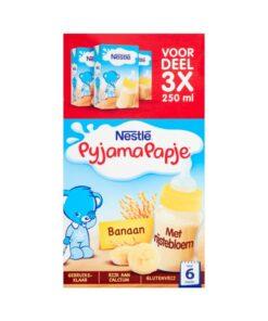 Nestlé Pyjamapapje cu banane pentru bebelusi +6 Luni 3x250 ml
