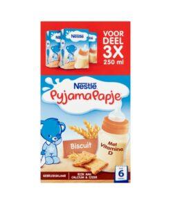 Nestlé Pyjamapapje cu biscuite pentru bebelusi +6 Luni 3x250 ml