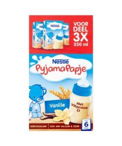 Nestlé Pyjamapapje cu vanilie pentru bebelusi +6 Luni 3x250 ml