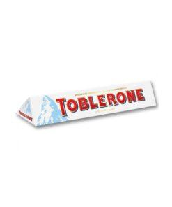 Toblerone Ciocolata alba cu nugat, miere si migdale 100g