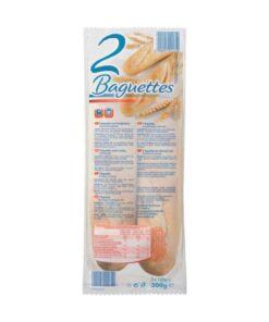 Baghete albe pentru cuptor 2 bucati 2x150g 300g
