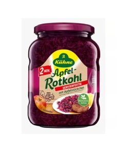 Varza rosie rasa cu bucati de mere 370 ml
